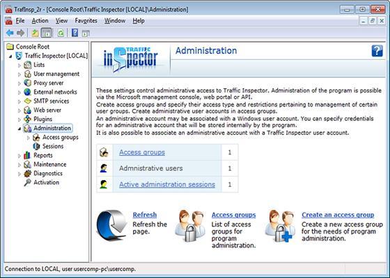Скриншот программы traffic inspector