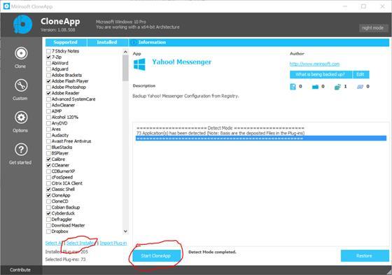 Скриншот программы cloneapp