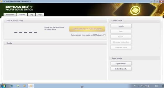 Скриншот программы pcmark