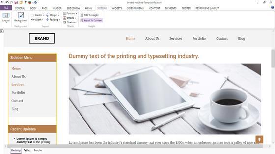 Скриншот программы templatetoaster
