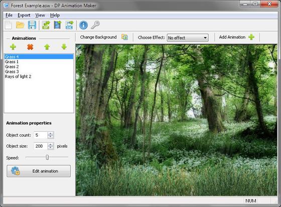 Скриншот программы dp animation maker