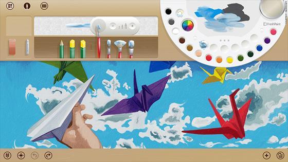 Скриншот программы fresh paint