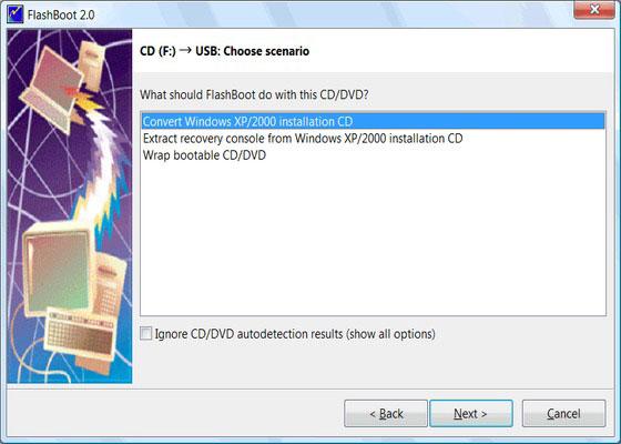 Скриншот программы flashboot