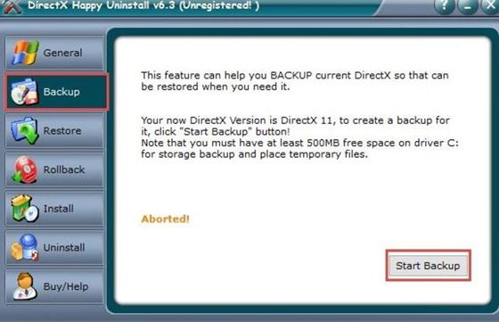 Скриншот программы directx happy uninstall