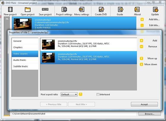 Скриншот программы dvd flick