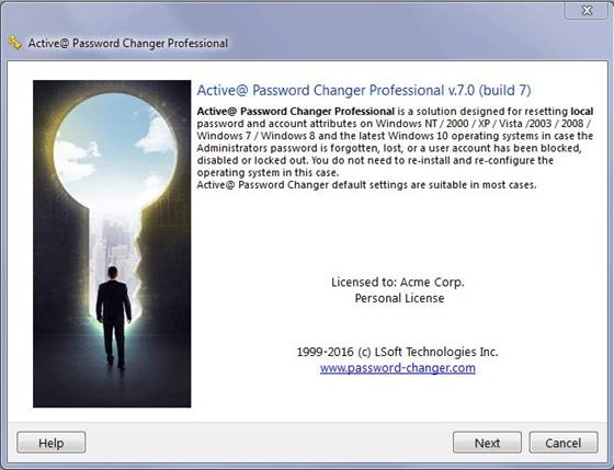 Скриншот программы active password changer