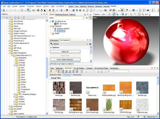 Скриншот программы deep exploration