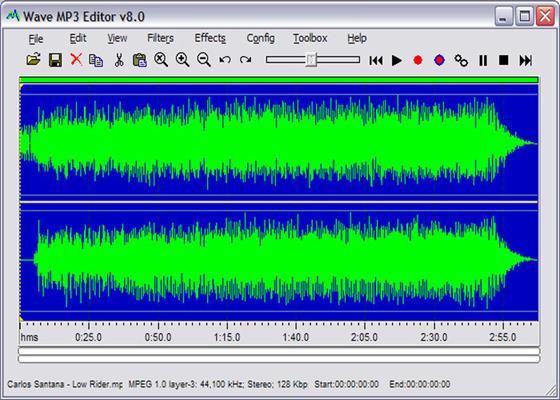 Скриншот программы free wave mp3 editor