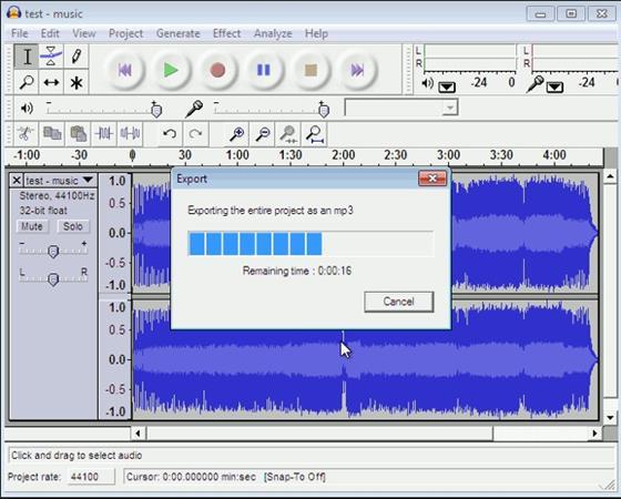 Скриншот программы lame mp3 encoder