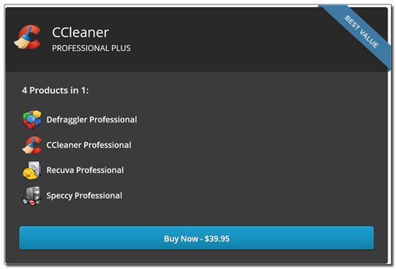 Скриншот программы ccleaner professional plus