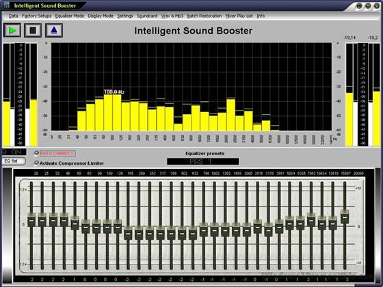 Скриншот программы sound booster