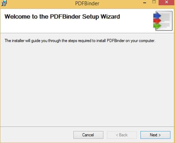 Скриншот программы pdfbinder