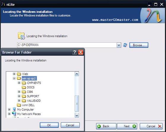 Скриншот программы nlite