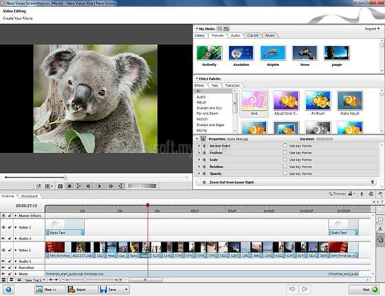 Скриншот программы nero vision