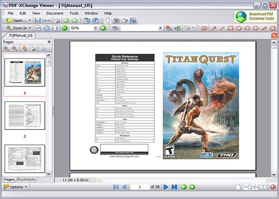 Скриншот программы pdf xchange viewer