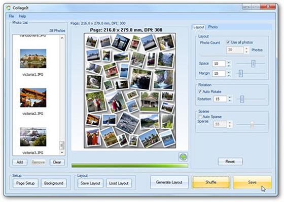 Скриншот программы collageit