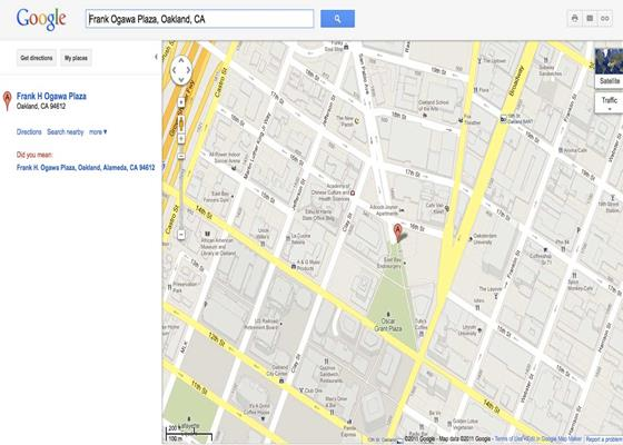 Скриншот программы google maps