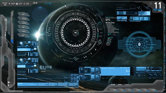 Скриншот программы rainmeter