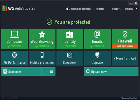Скриншот программы avg internet security