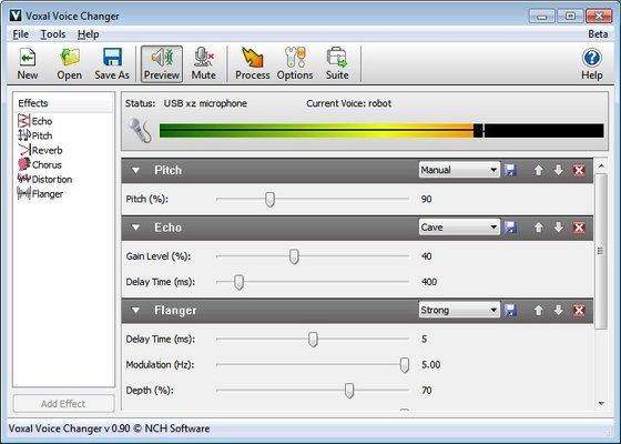 Скриншот программы voice changer для windows 10