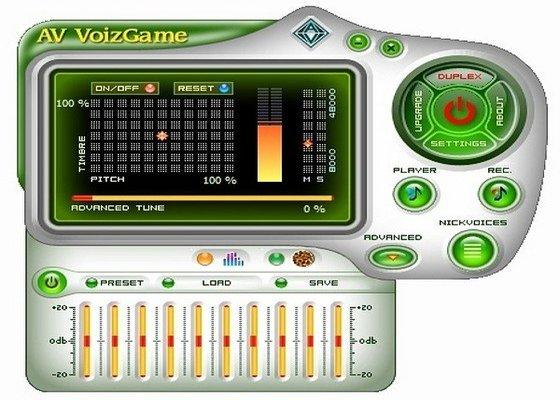 Скриншот программы av voizgame для windows 10