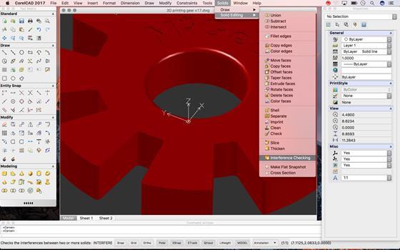 Скриншот программы corelcad
