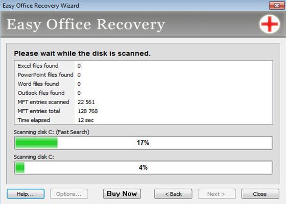 Скриншот программы easy photo recovery