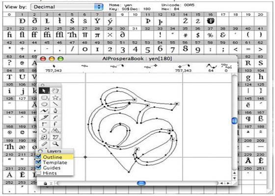 Скриншот программы fontographer