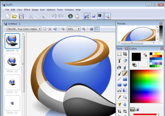Скриншот программы icofx