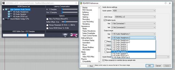 Скриншот программы asio4all