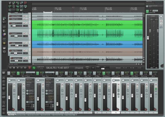Скриншот программы reaper