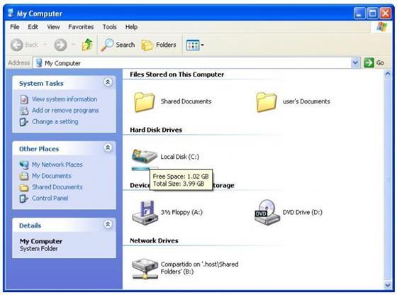 Скриншот программы vista drive icon