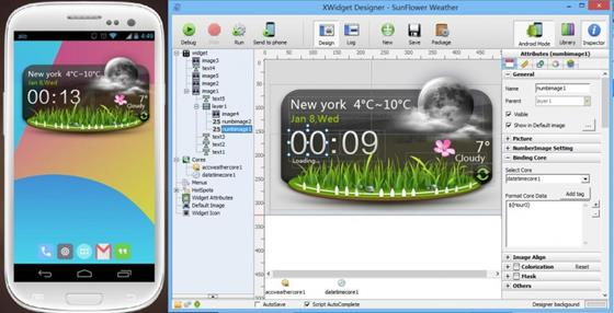 Скриншот программы xwidget