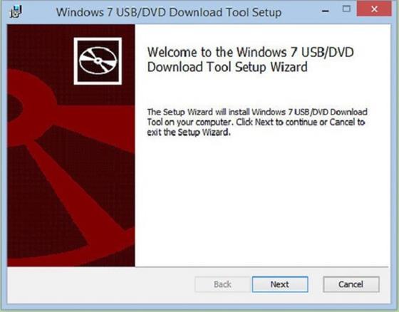 Скриншот программы windows 7 usb dvd download tool