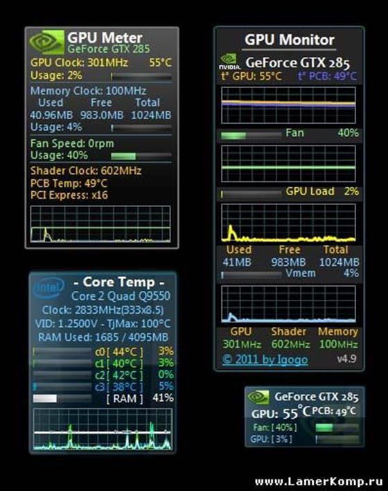 Скриншот программы gpu monitor