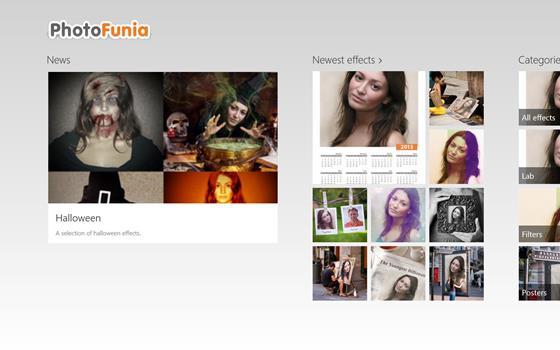 Скриншот программы photofunia