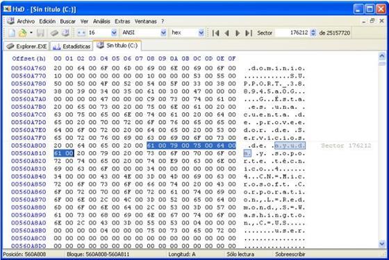Скриншот программы hex editor