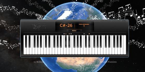 Скриншот программы virtual piano