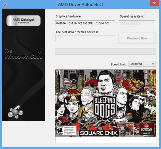 Скриншот программы amd driver autodetect