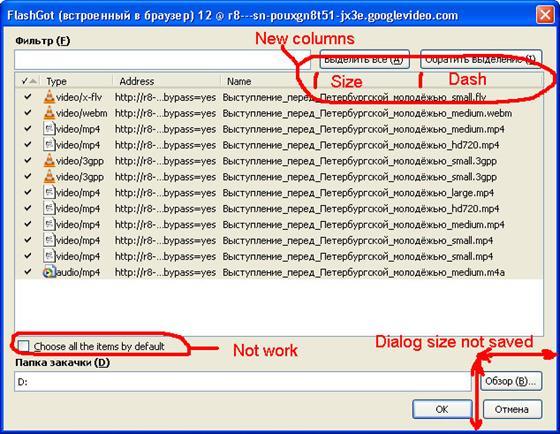 Скриншот программы flashgot