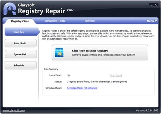 Скриншот программы registry repair