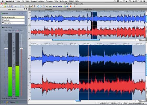 Скриншот программы wavelab