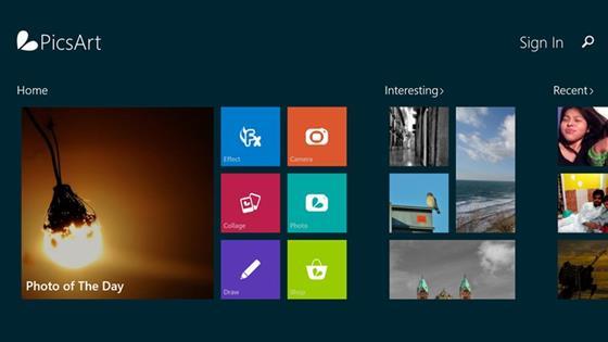 Скриншот программы picsart