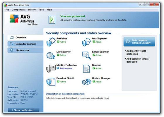 Скриншот программы avg