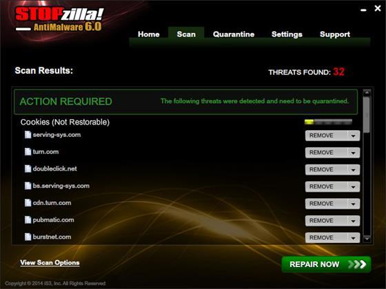 Скриншот программы stopzilla