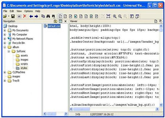 Скриншот программы universal viewer