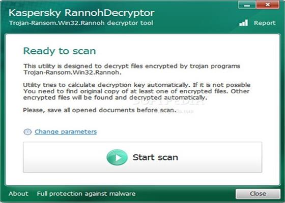 Скриншот программы rannohdecryptor