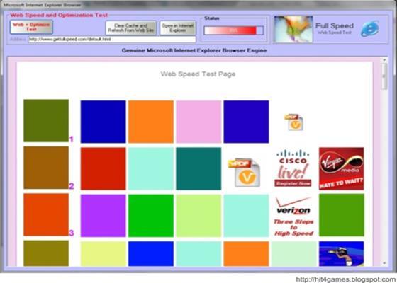 Скриншот программы full speed