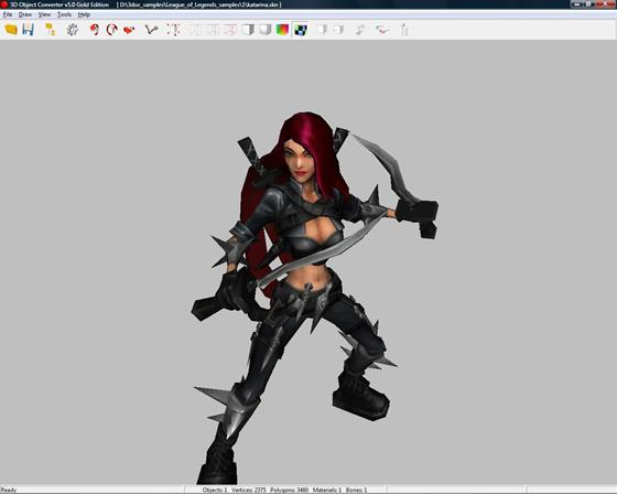 Скриншот программы 3d object converter