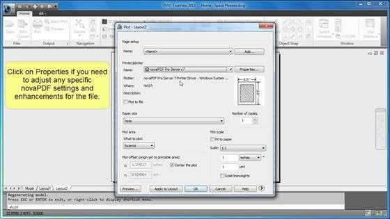 Скриншот программы dwg trueview